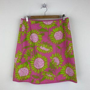 LILLY PULITZER Floral Summer Skirt 100% Cotton NWT